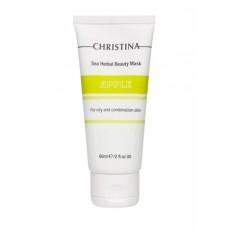 Christina Sea Herbal Beauty Mask Green Apple - Яблочная маска красоты для жирной и комбинированной кожи 60 мл.