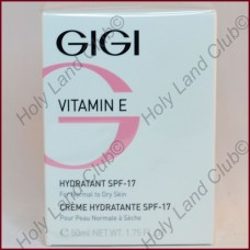 Gigi Vitamin E Hydratant SPF17 for Normal and Dry Skin - Увлажняющий крем для нормальной и сухой кожи SPF17